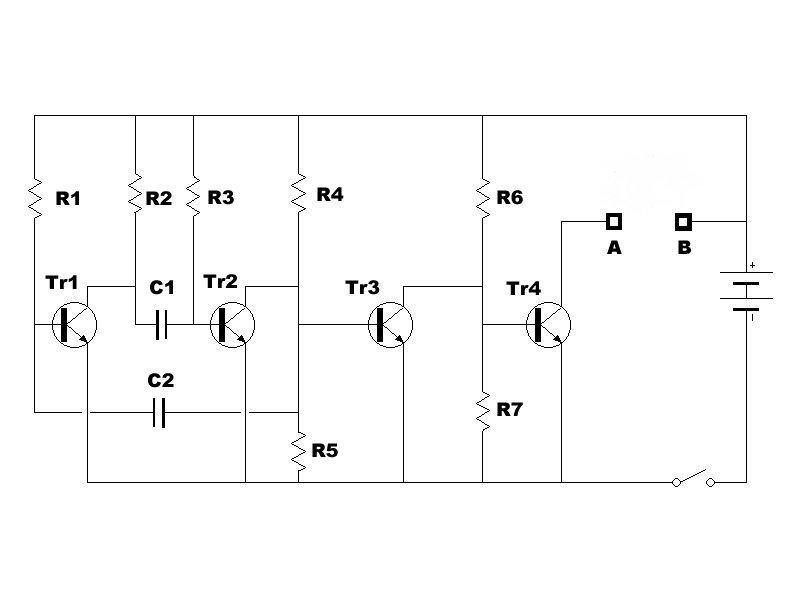 Schema Elettrico Racchetta Per Zanzare : Generatore alta tensione