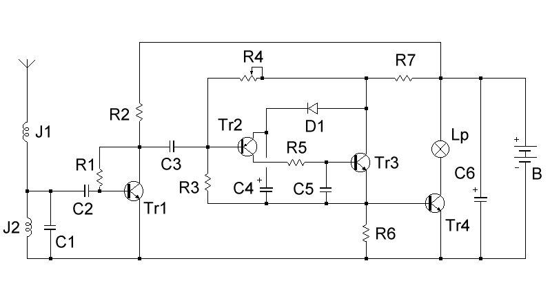 Schema Elettrico Per Accendere Una Lampadina : Segnalatore di scariche elettriche